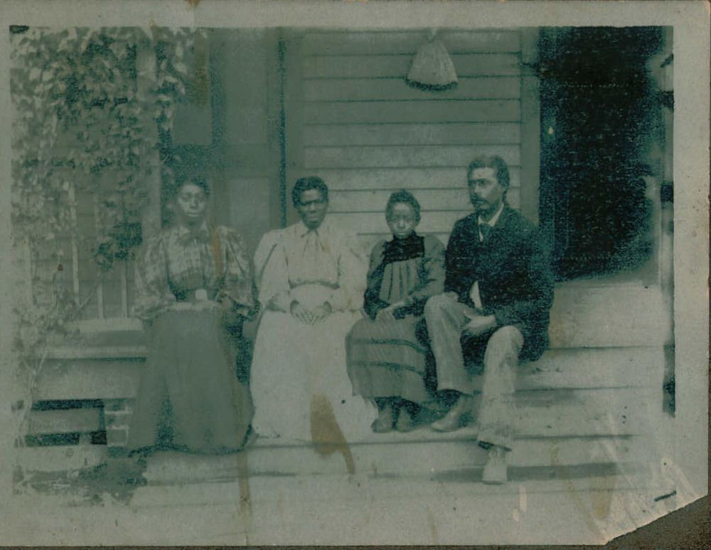 Easter, unknown woman, Elnora, and unknown man.