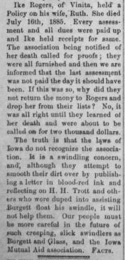 IndianChieftain - Vinitia OK - 09.24.1885 - Page 1