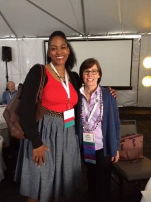 Me and California Genealogical Society President, Linda Harms Okazaki.