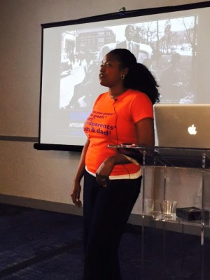 Me presenting on The Great Migration. Image courtesy Felicia Addison.
