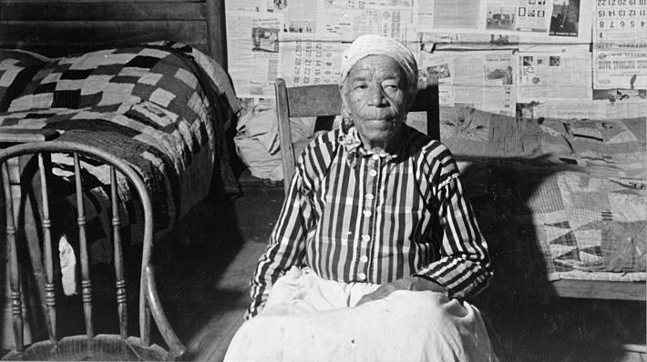 Mulatto ex-slave in her house near Greensboro, Alabama
