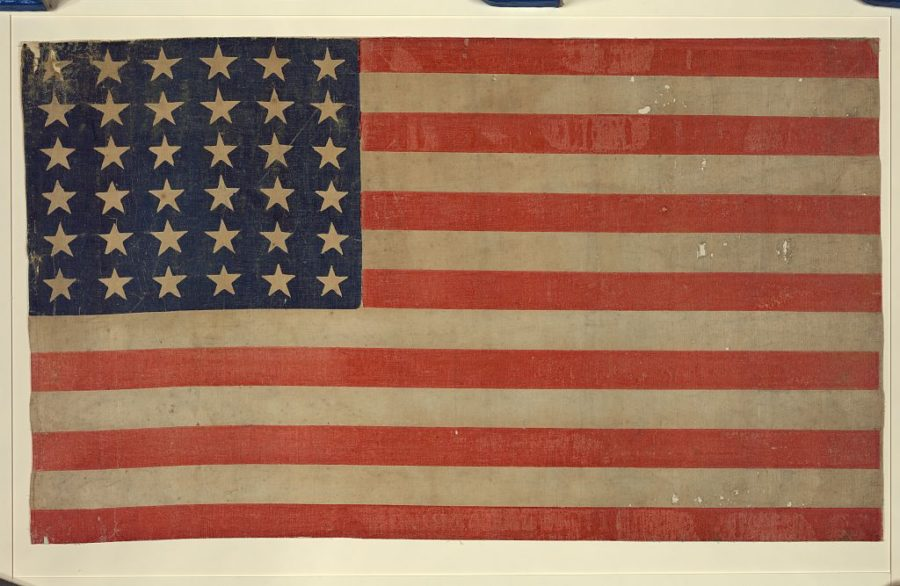 [Thirty-Six Star Flag]. [Between 1864 and 1867] Image. Retrieved from the Library of Congress, https://www.loc.gov/item/97515549/. (Accessed September 19, 2016.)