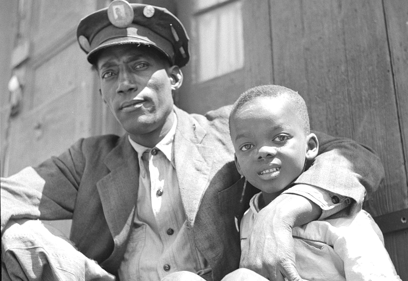 New Orleans, Louisiana. Negro dock worker and son. March 1943.