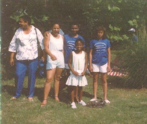 Yep. There's little ole me in the white dress at 6 years old...probably towering over all the other kids my age LOL