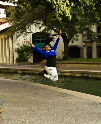 Me, after finding out about our Igbo ancestry.  LOL Actually, this was a different day but the jump still counts. Credit: Carolyn Callahan of Precision Photography by CC.